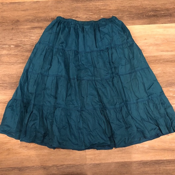 9f725ae681ec Skirts | Boho Gypsy Teal Retro Skirt | Poshmark